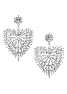 Adriana Orsini Crystal Burst & Rhodium-Plated Drop Earrings