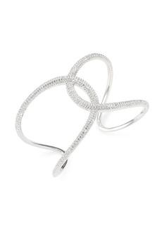 Swarovski Crystal Interlock Open Cuff
