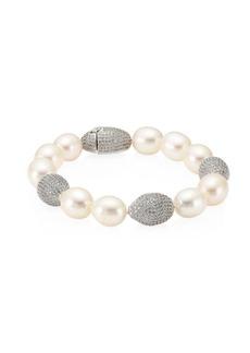 Tahiti Freshwater Pearl & Crystal Flex Bracelet
