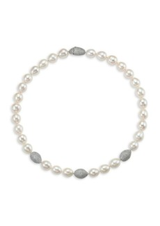 Adriana Orsini Tahiti Freshwater Pearl & Crystal Single Strand Necklace