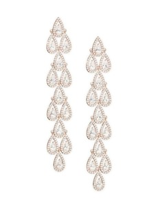 Teardrop Crystal Linear Earrings