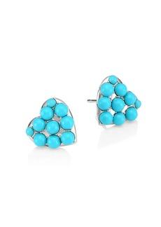 Adriana Orsini Turquoise Valentine Heart Earrings