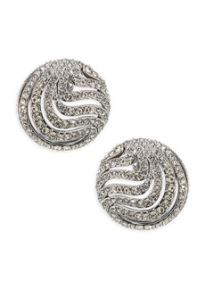 Wisp Crystal Button Earrings