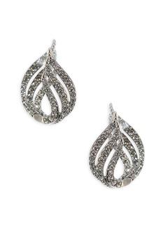Wisp Crystal Huggie Earrings