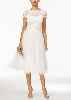 Adrianna Papell 2-Pc. Lace Tulle A-Line Dress