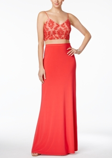 Adrianna Papell 2-Pc. Sequined A-Line Gown