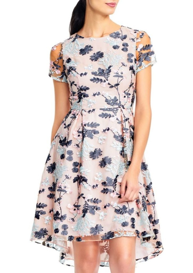 e21bb608cea Adrianna Papell Adrianna Papell Abigail Mesh Fit- -Flare Dress Now ...