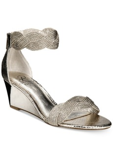 Adrianna Papell Adelaide Ankle Strap Wedge Evening Sandals Women's Shoes