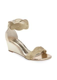 Adrianna Papell Adelaide Metallic Wedge Sandal (Women)
