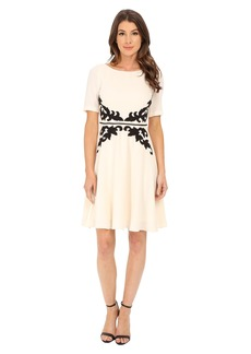 Adrianna Papell Applique Fit and Flare Dress