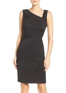 Adrianna Papell Asymmetric Body-Con Dress