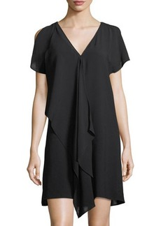 Adrianna Papell Asymmetric Cold-Shoulder Dress