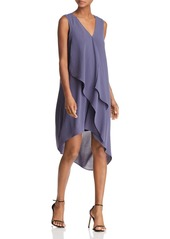 Adrianna Papell Asymmetric Draped Dress