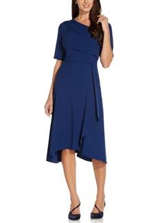 Adrianna Papell Asymmetrical Draped Dress