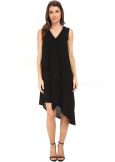 Adrianna Papell Asymmetrical Front Drape Dress