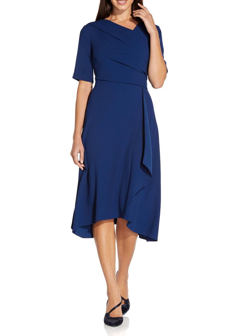 Adrianna Papell Asymmetrical Hem A-Line Dress