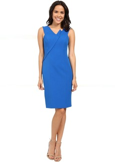 Adrianna Papell Asymmetrical Structured Drape Dress