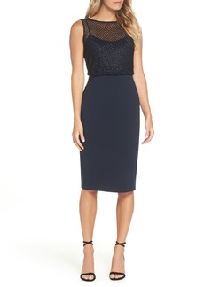 Adrianna Papell Bead Embellished Sheath Dress (Regular & Petite)