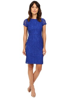Adrianna Papell Bead Neckline and Waist Katie Lace Sheath Dress