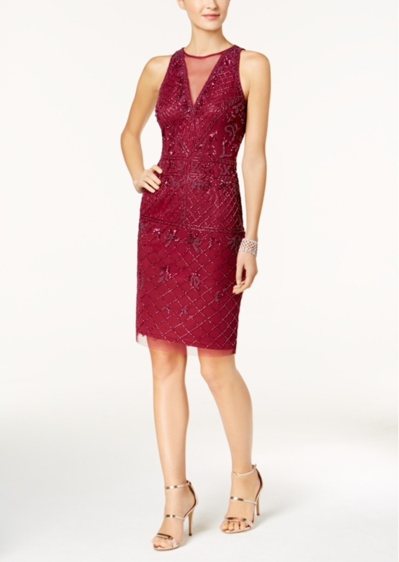 Adrianna Papell Adrianna Papell Beaded A Line Dress Dresses Shop