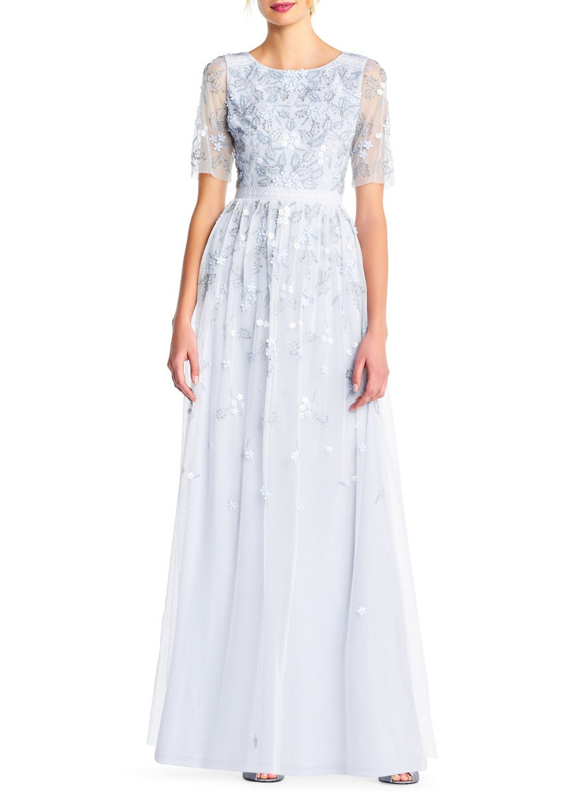 Adrianna Papell Adrianna Papell Beaded A Line Gown Dresses