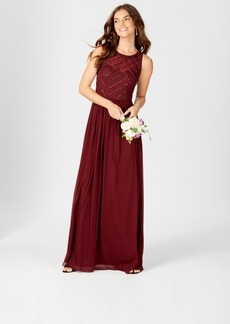 Adrianna Papell Beaded A-Line Gown
