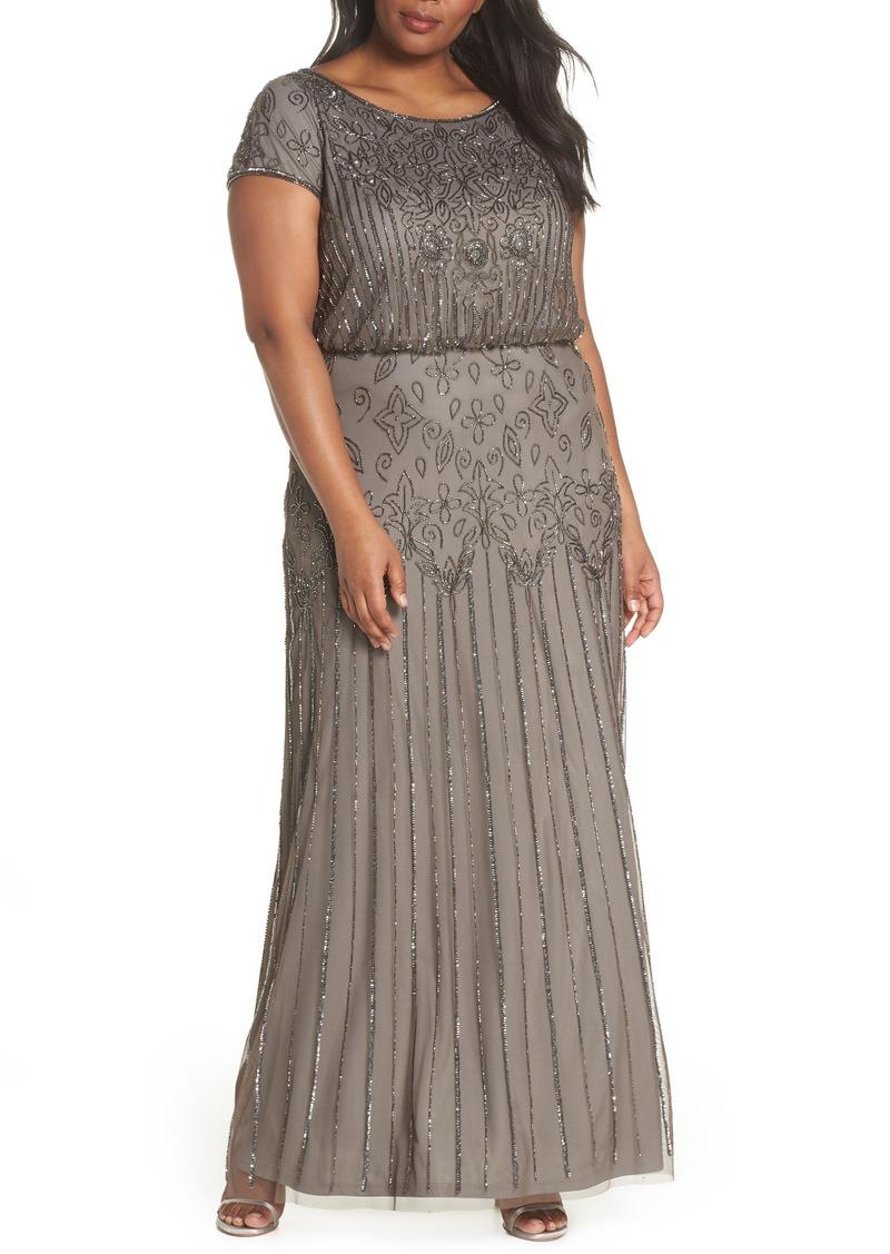 Beaded Blouson Gown (Plus Size)
