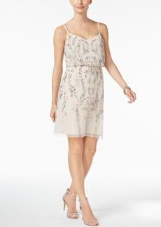 Adrianna Papell Beaded Blouson Slip Dress