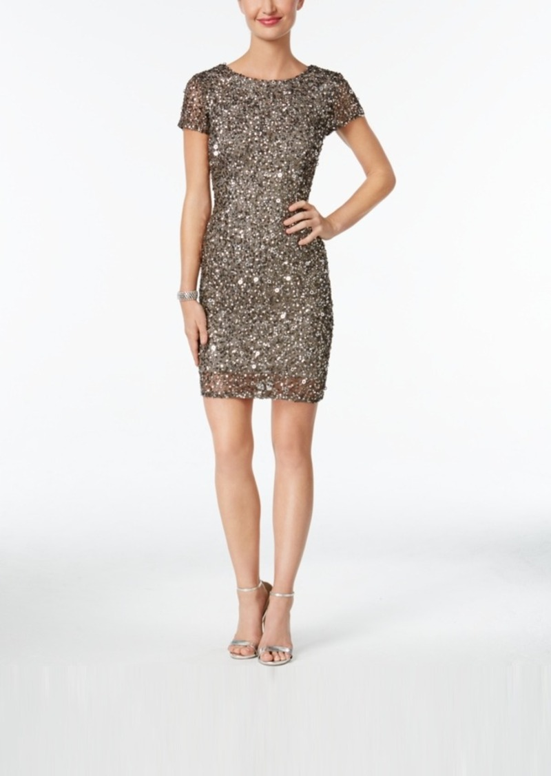 Adrianna Papell Adrianna Papell Beaded Cap-Sleeve Sheath Dress | Dresses