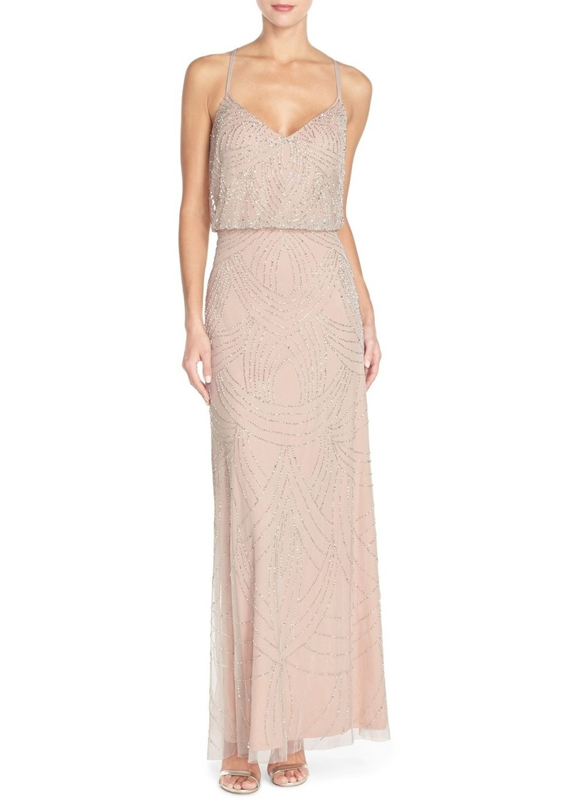 5004fe1441 Adrianna Papell Adrianna Papell Beaded Chiffon Blouson Gown