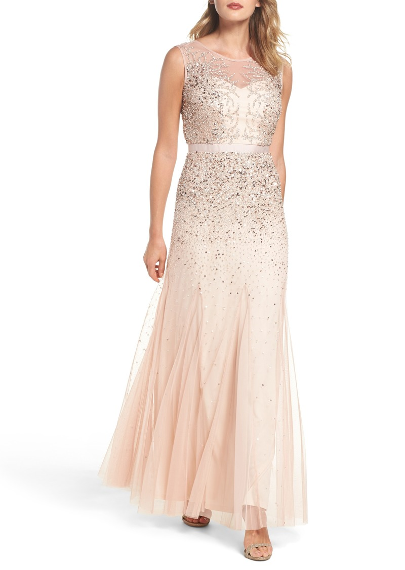 f7b974474a Adrianna Papell Adrianna Papell Beaded Chiffon Gown (Regular ...