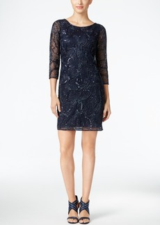 Adrianna Papell Beaded Cutout-Back Cocktail Dress