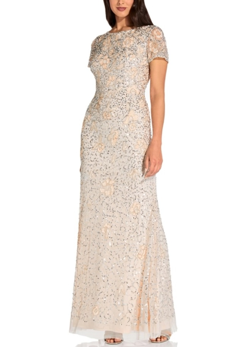 Adrianna Papell Beaded Gown