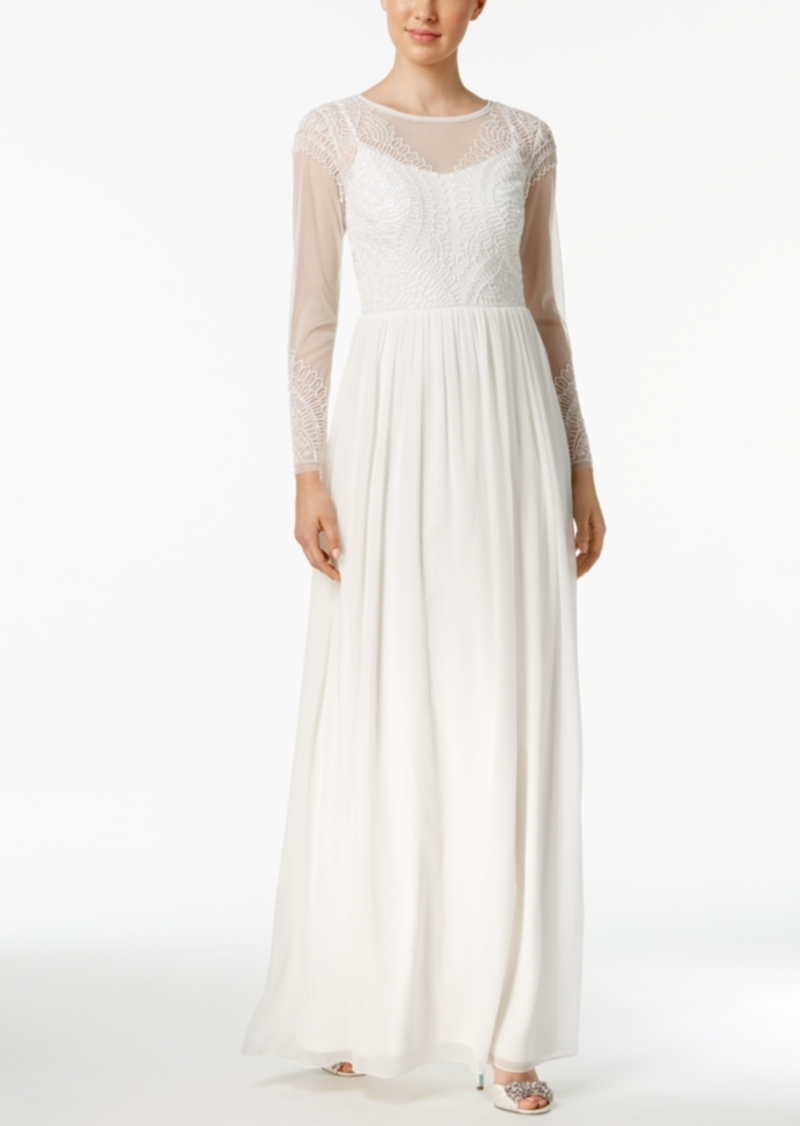 Adrianna Papell Adrianna Papell Beaded Illusion Gown   Dresses ...
