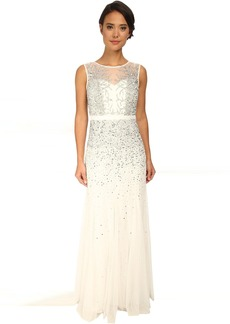 Adrianna Papell Beaded Illusion Gown (Prom)
