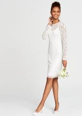 Adrianna Papell Beaded Illusion Sheath Dress