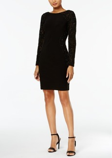 Adrianna Papell Beaded Matte Jersey Dress