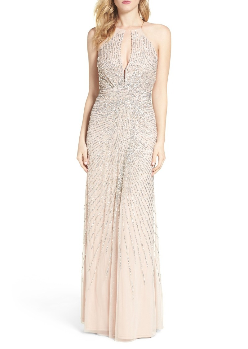 Adrianna Papell Adrianna Papell Beaded Mesh Fit & Flare Gown | Dresses