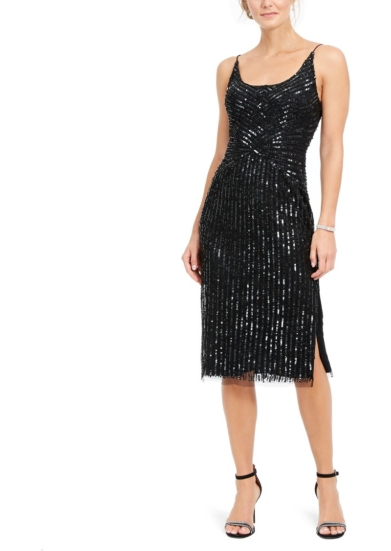 Adrianna Papell Beaded Midi Dress