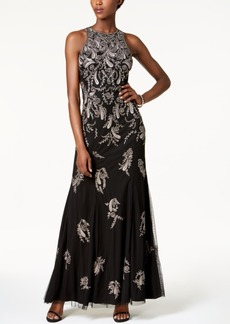Adrianna Papell Beaded Paisley Gown