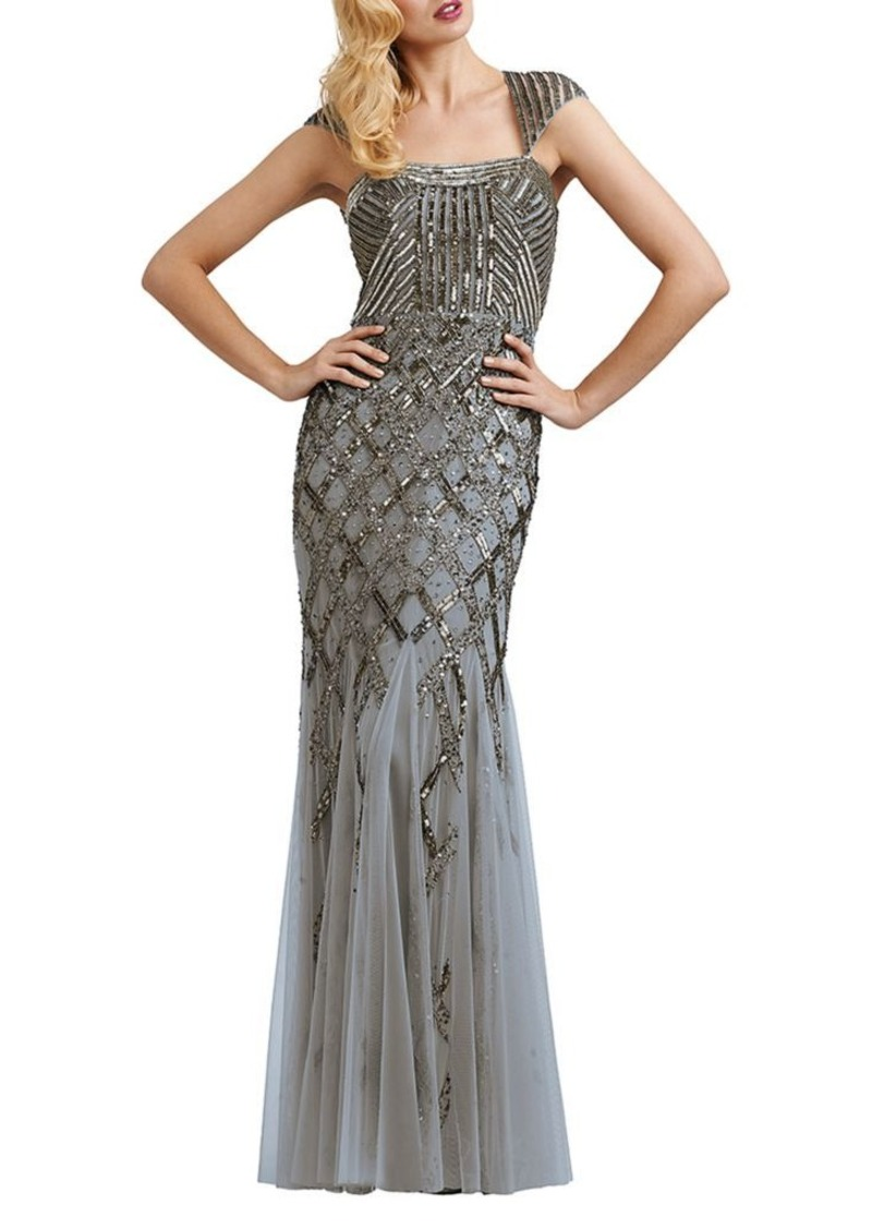 a74ae272 Adrianna Papell Adrianna Papell Beaded Portrait-Collar Gown | Dresses