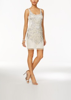 Adrianna Papell Beaded Sequined Sheath Dress