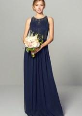 Adrianna Papell Beaded Sleeveless Chiffon Gown