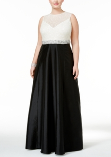 Adrianna Papell Beaded Taffeta Gown