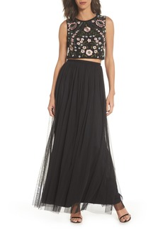 Adrianna Papell Beaded Two-Piece Gown