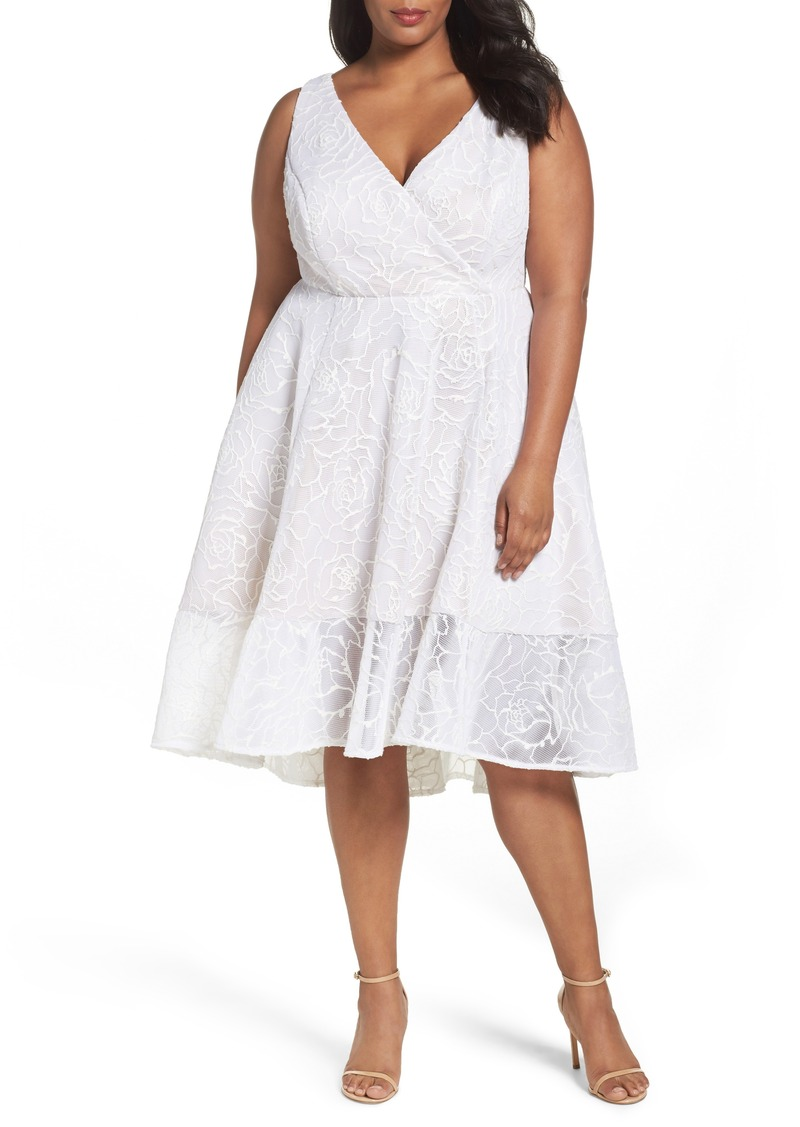 Bonded Mesh High/Low Dress (Plus Size)
