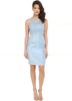 Adrianna Papell Bow Detail Lace Top Sheath