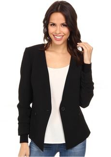 Adrianna Papell Button Jacket w/ Sweater Trim