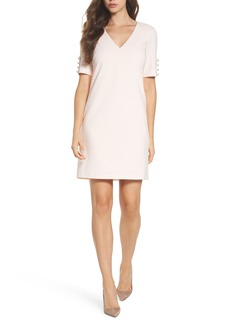 Adrianna Papell Button Sleeve Shift Dress