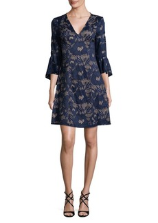 Carol Lace Ruffle-Sleeve Dress